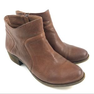 Lucky Brand Brolley Leather Ankle Bootie Almond 8